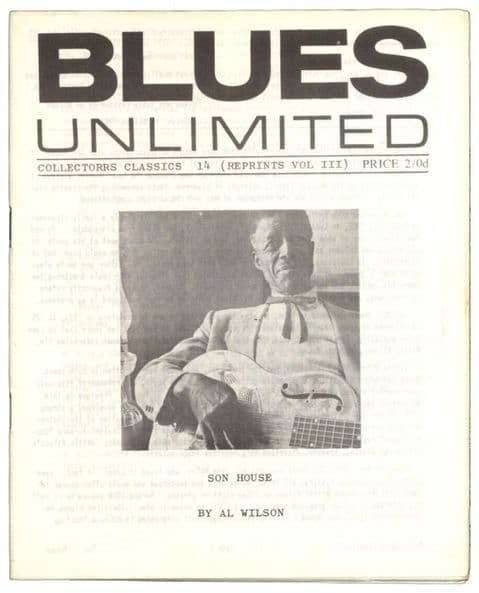 Blues Unlimited Magazine Collectors classics No 14, October 1966 Son House by Al Wilson
