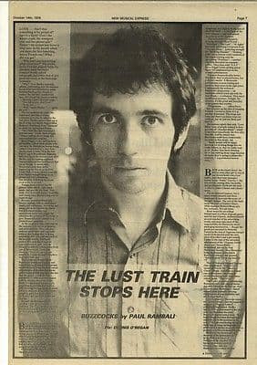 Buzzcocks The Lust Train stops here 1.5p article press cutting/clipping 1978
