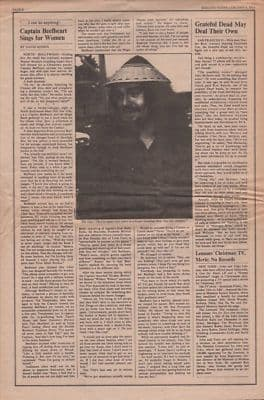 Captain Beefheart Sings for women Vintage Music Press article 1973
