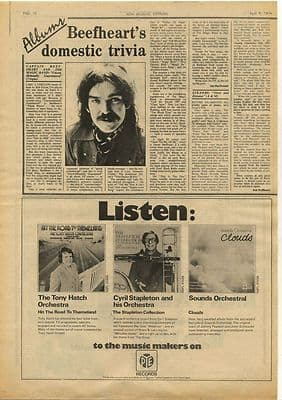 Captain Beefheart Unconditionally Vintage Music Press Review Article 1974