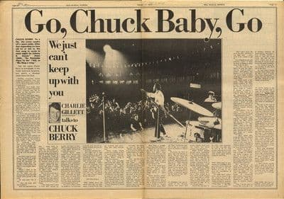 CHUCK BERRY Interview 2 page press article/cutting/clipping 1973