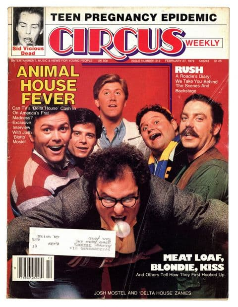 Circus Magazine February 27 1979 Sid Vicious dead Rush Meatloaf Blondie Kiss Animal House