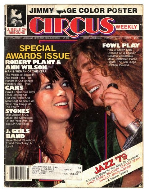 Circus Magazine February 6 1979 Led Zeppelin Jimmy Page Robert Plant Heart Rolling Stones J Geils