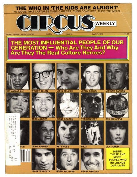 Circus Magazine July 24 1979 The Who Who Van Halen Mick Jagger Influential people of our generation
