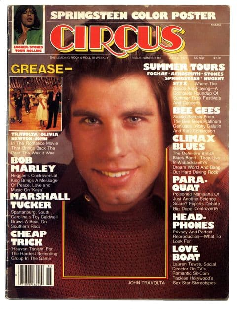 Circus Magazine July 6 1978 Bob Marley Bruce Springsteen Rolling Stones Cheap Trick