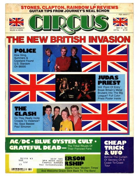 Circus Magazine May 1981 The Clash Police Judas Priest AC/DC Blue Oyster Cult Grateful Dead