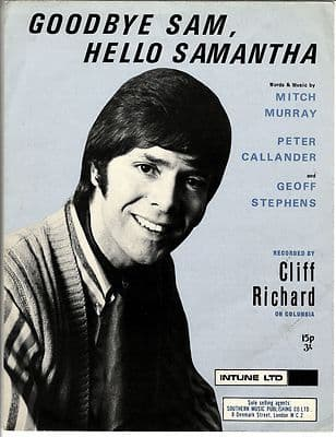 Cliff Richard Goodbye Sam Hello Samantha Sheet Music