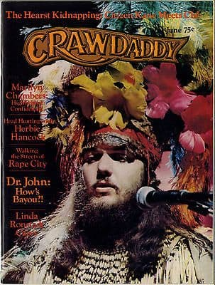 Crawdaddy Magazine June 1974 Marilyn Chambers Firesign Theatre Linda Ronstadt Dr John Lou Reed