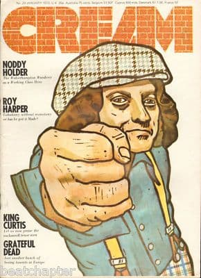 Cream UK Magazine No 20 January 1973 Noddy Holder of Slade Roy Harper King Curtis Grateful Dead