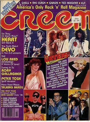 Creem Magazine March 1979 Devo Clash Lou Reed Rory Gallagher Heart Peter Tosh Talking Heads