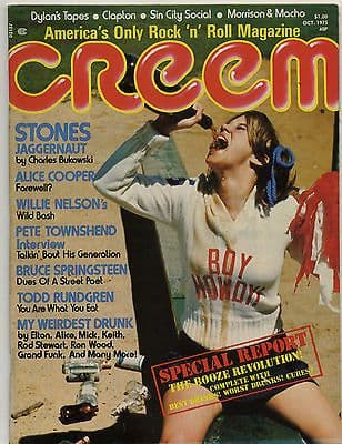 Creem Magazine October 1975 Alice Cooper Pete Townshend Rolling Stones Willie Nelson Dylan