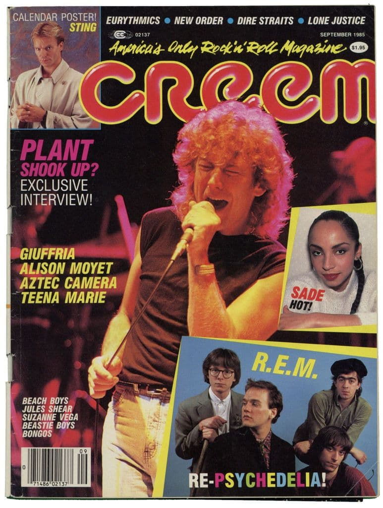 Creem Magazine September 1985 Robert Plant New Order Dire Straits REM Beastie Boys Eurythmics