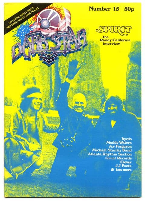 Dark Star Magazine No 15 June 1978 Spirit Randy Califiornia interview Byrds Muddy Waters JJ Foote