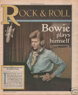 David Bowie original Vintage Music Press article from Rolling Stone Magazine 1978