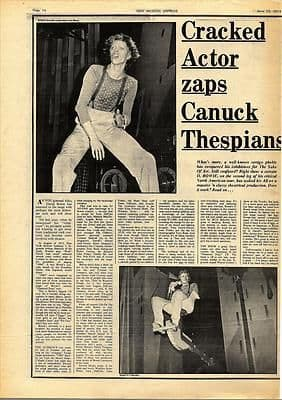 David Bowie Cracked Actor 1 Vintage Music Press article/cutting/clipping 1974
