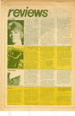 David Bowie Live review press article/cutting/clipping 1971