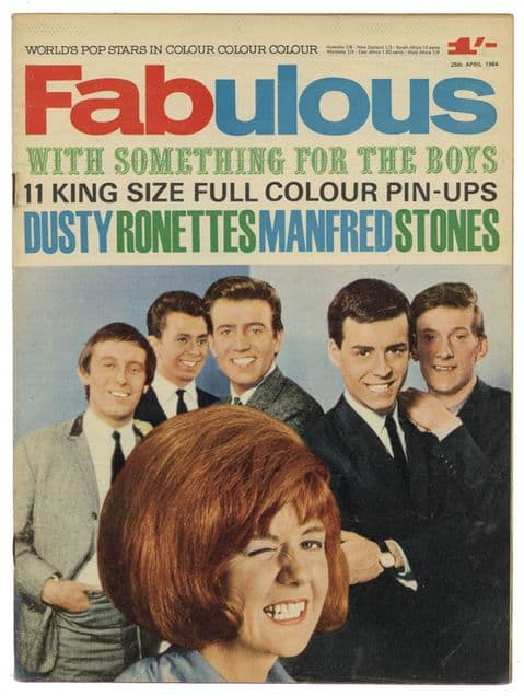 Fabulous Magazine 25 April 1964 Cilla Rolling Stones The Ronettes Manfred Mann Dusty Springfield