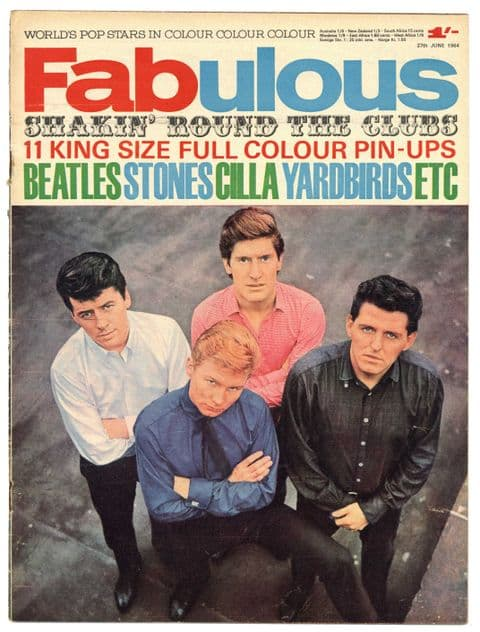 Fabulous Magazine 27 June 1964 Yardbirds Beatles Stones Searchers The Rattles Manfred Mann