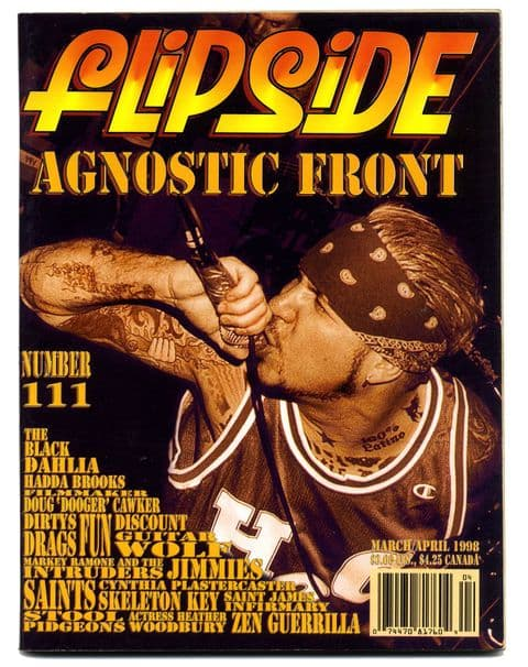 Flipside Magazine No 111 Mar/Apr 1998 Black Dahlia Marky Ramone The Saints Cynthia Plaster Caster