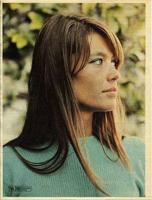 """FRANCOISE HARDY 10""""X13"""" pinup poster size press cutting/clipping 1967 Original"""