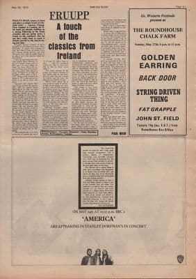 FRUUPP A touch of the classics... original Vintage Music Press article 1973