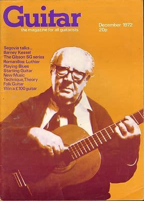 Guitar Magazine Vol 1 No 5 December 1972 Barney Kessel Gibson SG Series Segovia Romanillos