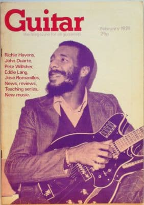 Guitar Magazine Vol 2 No 7 February 1974 Richie Havens John Duarte Pete Wilsher Eddie Lang