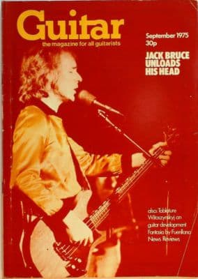 Guitar Magazine Vol 4 No 2 September 1975 features 4 page Jack Bruce Interview Vihuela and Guitar
