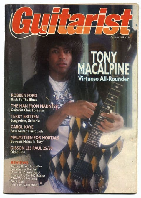 Guitarist Magazine October 1988 Tony Macalpine Madness Chris foreman Carol Kaye