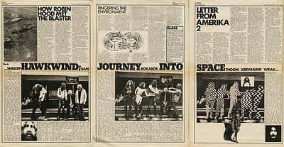 Hawkwind Journey into space Vintage music press article/cutting/clipping 1970