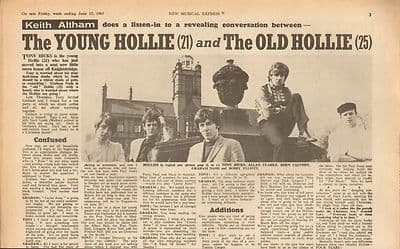 Hollies Young and old. Interview Vintage Music Press article 1967