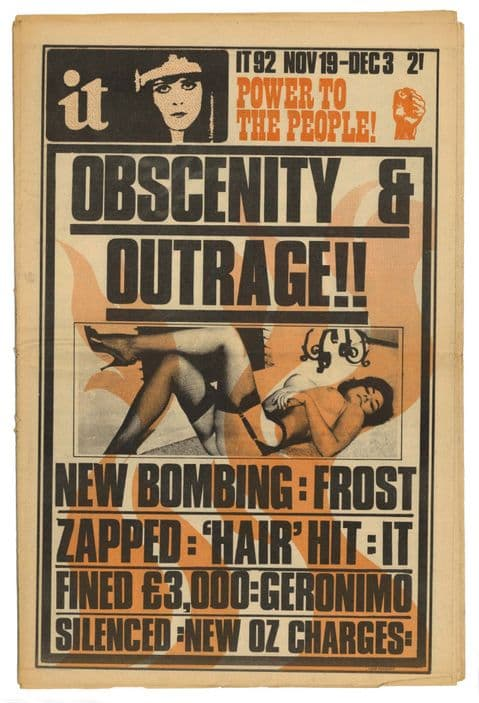 International Times No 92 November 19-December 3, 1970 Obscentiy & Outrage White Panthers