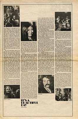 IT'S A BEAUTIFUL DAY Interview music press article/cutting/clipping 1970