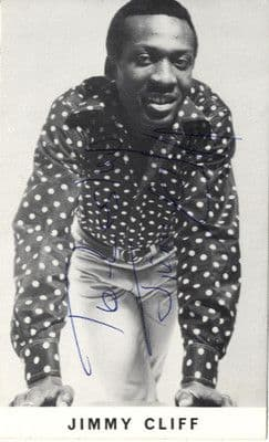 Jimmy Cliff Signed Original 1968 Island Records Promotional Postcard
