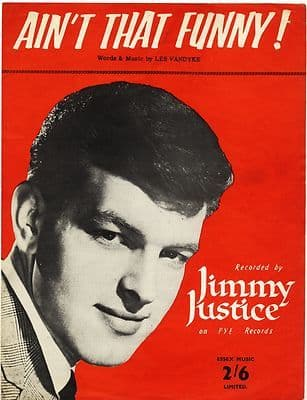 JIMMY JUSTICE Ain't that funny Original UK Sheet Music from 1962