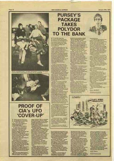 JIMMY PURSEY takes Polydor to the bank press article cutting/clipping 1979