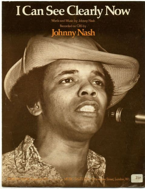 Johnny Nash I Can See Clearly Now 1972 Original UK Sheet Music