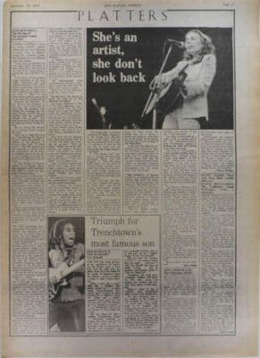 Joni Mitchell Hissing of summer lawns LP review original Vintage Music Press article 1975