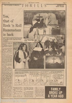 Led Zeppelin Swansong Party Review original Vintage Music Press article 1974