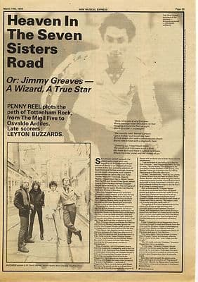 LEYTON BUZZARDS 1 page Interview Music Press article/cutting/clipping 1979
