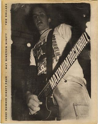 Maximum Rocknroll Magazine No 84 Serial Killers Dead Elvis Cringer May 1990