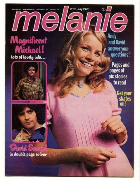 Melanie Magazine No 25 July 28 1973 Michael Jackson David Essex Mud David Bowie