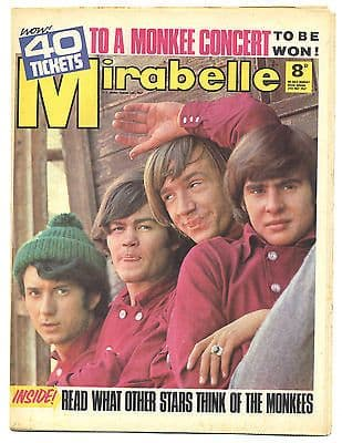 Mirabelle Magazine/Comic 27 May 1967 Monkees Hollies Bobby Elliot Small Faces Yardbirds