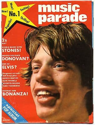 Music Parade Magazine No 1 May 1965 Rolling Stones Beatles Donovan Yardbirds