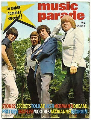 Music Parade Magazine No 3 July 1965 Rolling Stones Beatles Pretty Things Moody