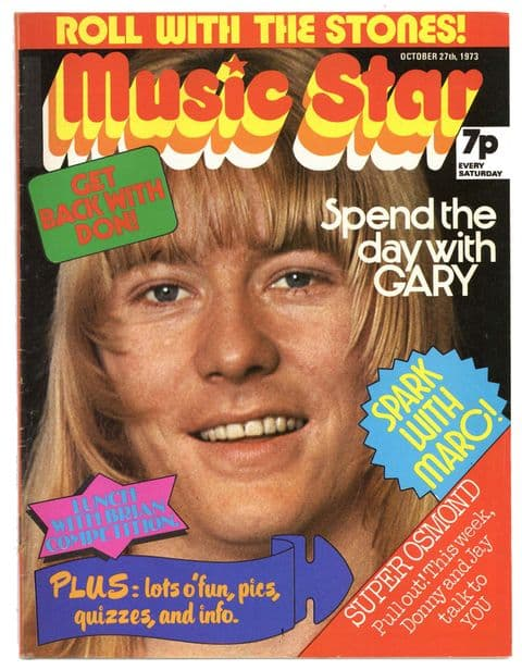 Music Star Magazine 27 October 1973 Sweet Brian Connolloy Marc Bolan Rolling Stones Slade