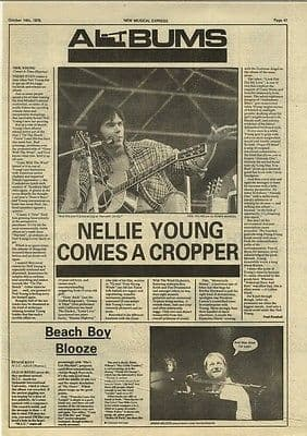 Neil Young Comes a Time LP Review article press cutting/clipping 1978