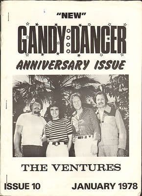 New Gandy Dancer Vintage Music magazine No 10 Spotnicks Shadows Beach Boys Violents The Ventures