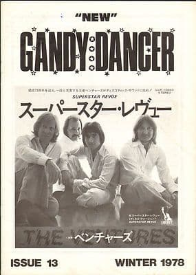 New Gandy Dancer Vintage Music magazine No 13 1978 The Eagles Shadows Alan Hawkshaw The Ventures