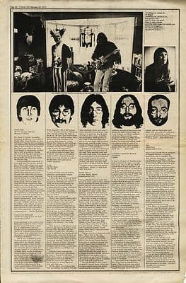NICO MUDDY WATERS TREES CREEDENCE LP Reviews press article/cutting/clipping 1971